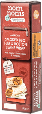 American Smoked BBQ Beef & Boston Beans Wrap