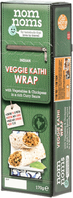 Indian Veggie Kathi Wrap