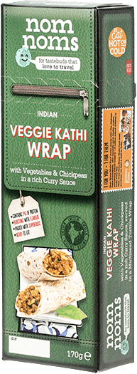 Indian Veggie Kathi Wrap
