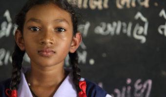 12-year-old Akshaya Patra beneficiary studying at our partner school in Hubli, Karnataka